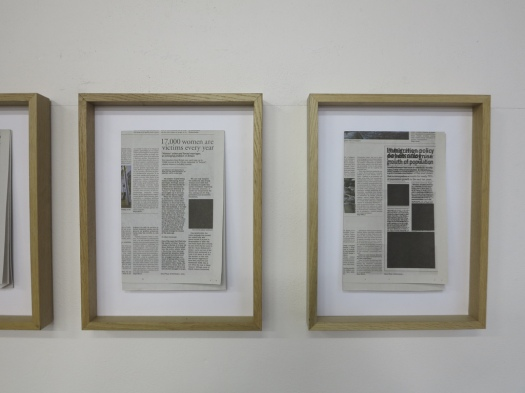 Bad News Project 2009 'Delo' Newspaper intervention, ljubljana, Slovenia 3 offset printed interventions, each 20x14cm, black ink on newspaper;