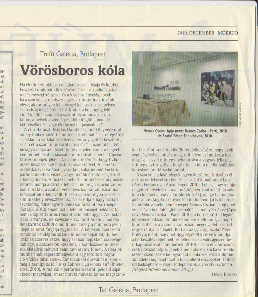 muerto magazine, newspaper review, 2010, hung
